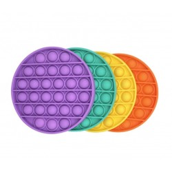 Pachet Promo- Jucarie Senzoriala, Antistres, Interactiva, Pop It, Bubble, Rotund, Set 4 Bucati