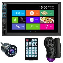 "MP5 Player Techstar® 7054, 2DIN, Camera Marsarier, Ecran HD Touch 7"", Comenzi Volan, Telecomanda, MirrorLink, Bluetooth 4.2"