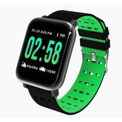 Ceas Smartwatch Techstar® A6, Bluetooth 4.0, Monitorizare Tensiune, Puls, Oxigenare Sange, Verde