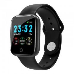 Ceas Smartwatch Techstar® I5, 1.3 inch OLED, Bluetooth 4.0 + EDR, Monitorizare Tensiune, Puls, Oxigenare Sange, Alerte Hidratare, Negru