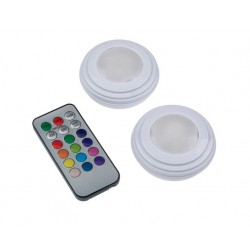 Set 2 lampi de veghe cu telecomanda, 12 culori