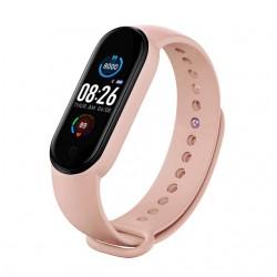 "Bratara Fitness Techstar® M5, Ecran 0.96"" inch TFT, Bluetooth 4.0, IP66, Tensiune, Puls, Oximetru, Alerta Sedentarism, Roz"