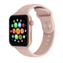 Ceas Smartwatch Techstar® T500, 1.54 inch HD IPS, Monitorizare Cardiaca, Alerte Sedentarism, Termometru, Bluetooth 4.0, Roz
