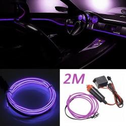 Banda LED Auto De Interior, Mov + Droser 12V, 2 Metri