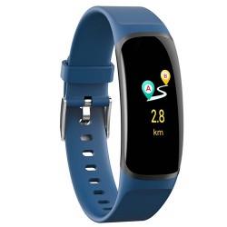 "NETERMINAT Bratara Fitness Techstar® MT58, Ecran 0.96"" inch IPS LCD, Bluetooth 4.0, IP66, Tensiune, Puls, Alerta Sedentarism, Albastru"