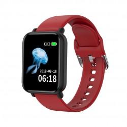 Ceas Smartwatch Techstar® R16, 1.3 inch IPS, Bluetooth 4.0 + EDR, Monitorizare Tensiune, Puls, Pasometru, Rosu