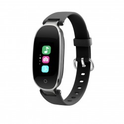 "Bratara Fitness Techstar® S3 Plus, Ecran 0.96"" inch, Bluetooth 4.0, IP66, Tensiune, Puls, Alerta Sedentarism, Elegant, Argintiu"