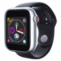 Ceas Smartwatch Techstar® Z6, 1.54inch IPS LCD, Bluetooth 3.0 + EDR, Cartela SIM, MicroSD, Monitorizare Somn, Negru-Argintiu