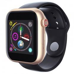 Ceas Smartwatch Techstar® Z6, 1.54inch IPS LCD, Bluetooth 3.0 + EDR, Cartela SIM, MicroSD, Monitorizare Somn, Auriu