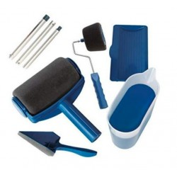 Trafalet Paint Roller cu rezervor 800 ml incorporat, brat telescopic, recipient gradat, culoare negru/albastru