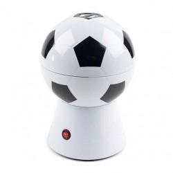Aparat de facut popcorn in forma de minge de fotbal, alb