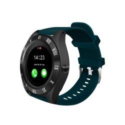 Ceas Smartwatch Techstar® M11, 1.54inch LCD , Bluetooth 4.0 + EDR, Camera Foto, Cartela SIM, Micro SD, Monitorizare Somn, Apeluri si SMS, Notificari, Albastru