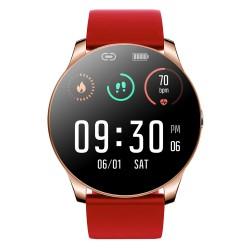 Ceas Smartwatch Techstar® R33, 1.08 inch IPS LCD , Bluetooth 4.0 + EDR, Monitorizare Somn, Puls, Respiratie, Tensiune, Notificari, Rosu