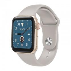 Ceas Smartwatch Techstar® W58Pro Auriu, 1.3 inch IPS, Monitorizare Temperatura, Puls, Tensiune, Sedentarism, Bluetooth, IP65