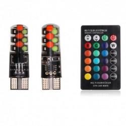 Led RGB, Set 2 Becuri de Pozitie, cu Telecomanda si Intensitate Reglabila,Sport