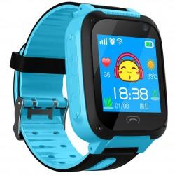 Ceas Smartwatch Copii Techstar®Q9, Slot Cartela SIM, GPS Tracker, Buton Urgenta SOS, Monitorizare Live, Apelare, Albastru