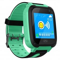 Ceas Smartwatch Copii Techstar® Q9, Slot Cartela SIM, GPS Tracker, Buton Urgenta SOS, Monitorizare Live, Apelare, Verde