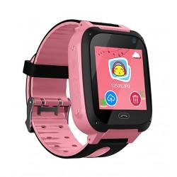 Ceas Smartwatch Copii Techstar® Q9, Slot Cartela SIM, GPS Tracker, Buton Urgenta SOS, Monitorizare Live, Apelare, Roz