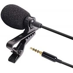 Microfon Laviera Techstar® Lapel cu Clip, Reducerea Zgomotului, 3.5mm, TRRS, 1.5m