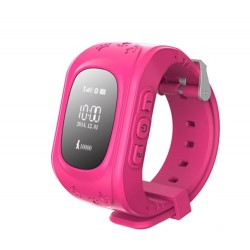Ceas Smartwatch Copii Techstar® Q50, 0.96 inch IPS, Slot Cartela SIM, Tracker GPS, AGPS, LBS, Buton Urgenta SOS, Monitorizare Live, Apelare, Roz