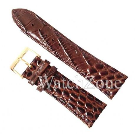 Curea Ceas Maro Inchis 24mm NAGATA Imprimeu Crocodil