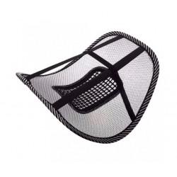 Set 2 x Suport lombar terapeutic pentru scaun auto / birou, mentine postura corecta, negru