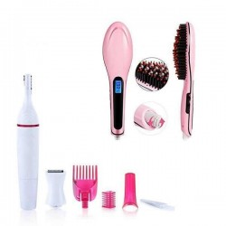 Perie indreptat parul + Trimmer electric 5 in 1
