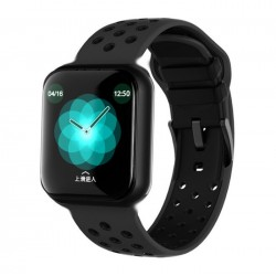 Ceas Smartwatch Techstar® F8, 1.30 inch IPS, Bluetooth 4.0, Monitorizare Puls, Tensiune, Alerte Sedentarism, Hidratare, Negru