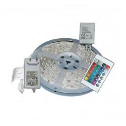 Set 2 Banda LED RGB Multicolora cu Telecomanda, 5m, interior exterior