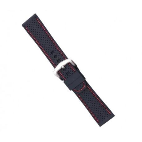 Curea ceas silicon neagra 18mm