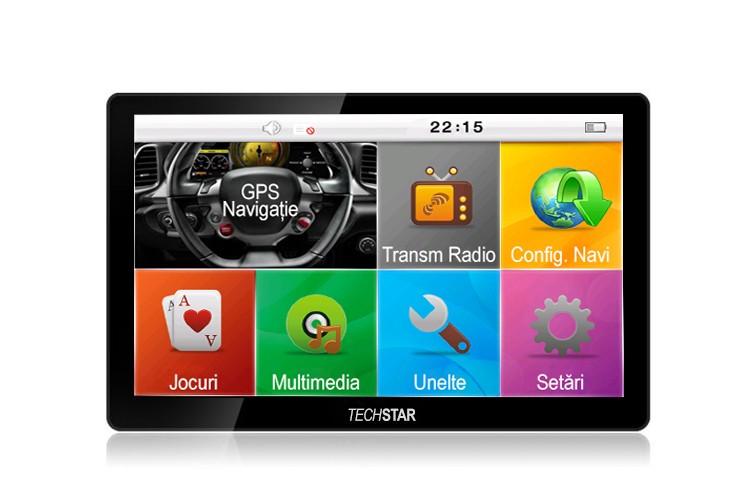 "GPS Auto/Camion Navigatie Techstar® 7"""" cu Touchscreen Premium 8GB Windows CE 128 Ram poza 2021"