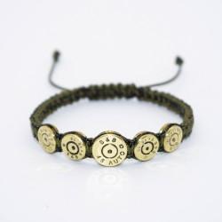 Bratara Ultra Bullet HandMade,Cadou Vanator,Pasionati Bullet,Cartuse 9mm,45mm.Calitate Superioara Kaki 20 cm