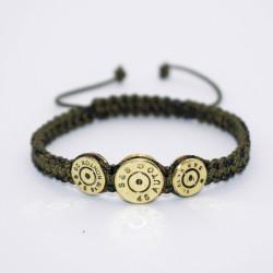 Bratara Ultra Bullet HandMade,Cadou Vanator, Pasionati Bullet,Cartuse 9mm,45mm.Calitate Superioara Kaki 17 cm
