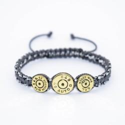 Bratara Ultra Bullet HandMade, Cadou Vanator, Pasionati Bullet,Cartuse 9mm,45mm.Calitate Superioara Gri 19 cm