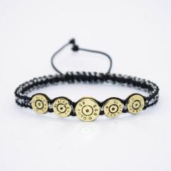 Bratara Ultra Bullet HandMade,Cadou Vanator, Pasionati Bullet,Cartuse 9mm,45mm.Calitate Superioara Gri 17 cm