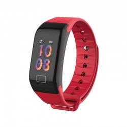 "Bratara Fitness Techstar® F1 Plus, Ecran 0.66"" inch OLED, IP66, Tensiune, Puls, Oximetru, Alerta Sedentarism, Rosu"