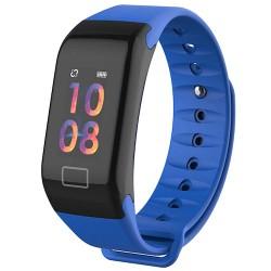 "Bratara Fitness Techstar® F1 Plus, Ecran 0.66"" inch OLED, IP66, Tensiune, Puls, Oximetru, Alerta Sedentarism, Albastru"