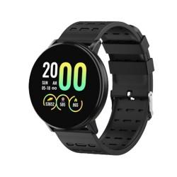 Ceas Smartwatch Techstar® 119 Negru, 1.3 inch IPS, Monitorizare Cardiaca, Tensiune. Oxigenare, Sedentary, Bluetooth, IP67