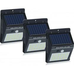 Set 3 Lampi Solare cu 30 LED senzor de miscare si senzor de lumina