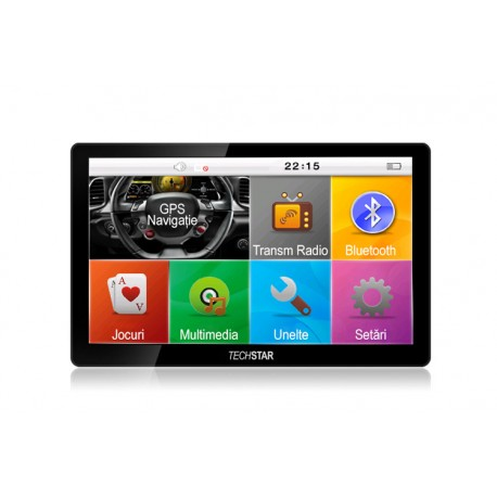 "GPS Auto Techstar 7"" Premium 4GB Bluetooth"