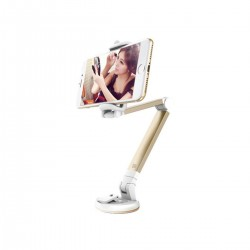 Suport telefon pentru birou, brat rotativ 360°, ventuza prindere, pliabil si portabil