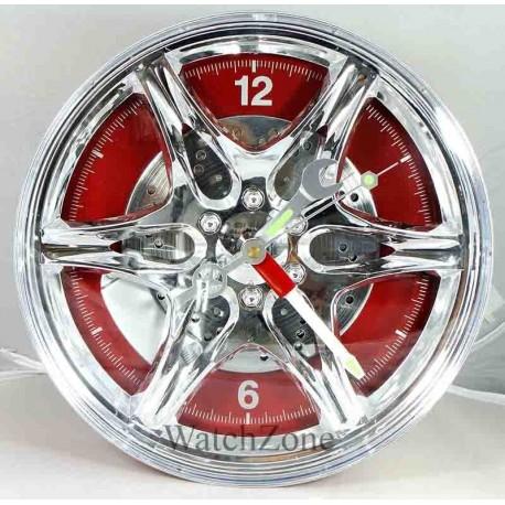 Ceas de perete janta aliaj Wheel Rim Clock LED