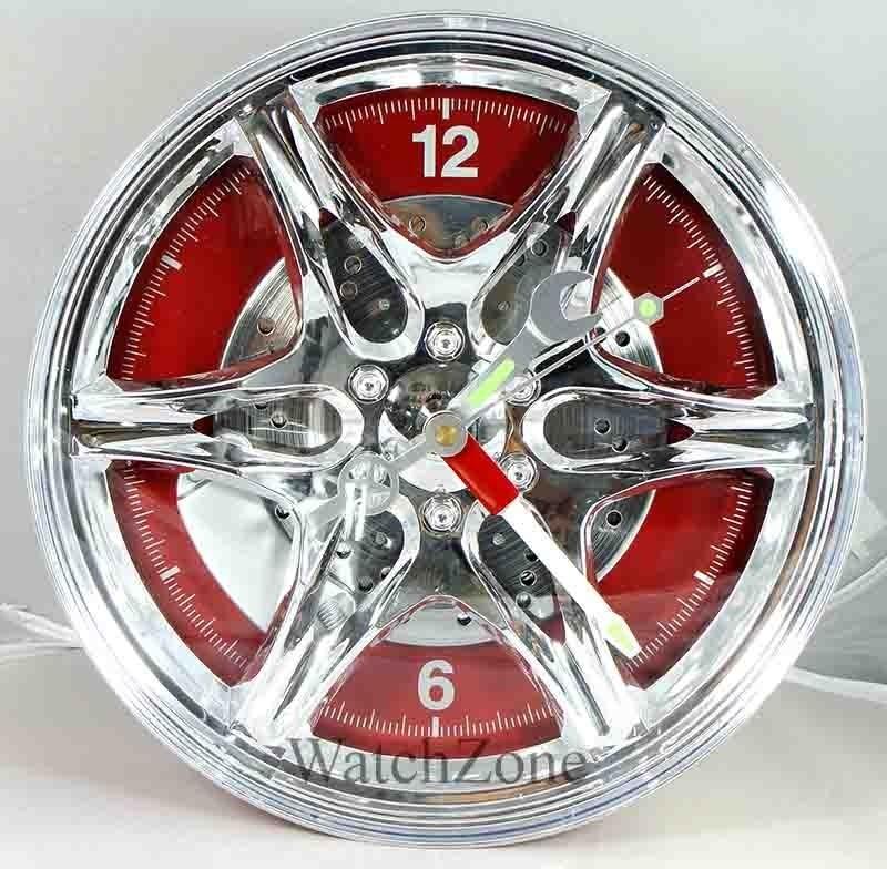 Ceas de perete janta aliaj Wheel Rim Clock LED imagine techstar.ro 2021