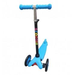 Trotineta pentru Copii cu 3 Roti, Reglabila pe Inaltime, Scooter, Albastru