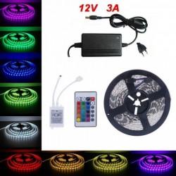 Banda cu 300 LED-uri, multicolora, 5 metri - cu telecomanda