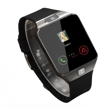 Smartwatch Techstar® DZ09, 1.56inch LCD, Compatibil SIM, MicroSD, Camera Foto, Apelare, SMS, Pedometru, Monitorizare Somn