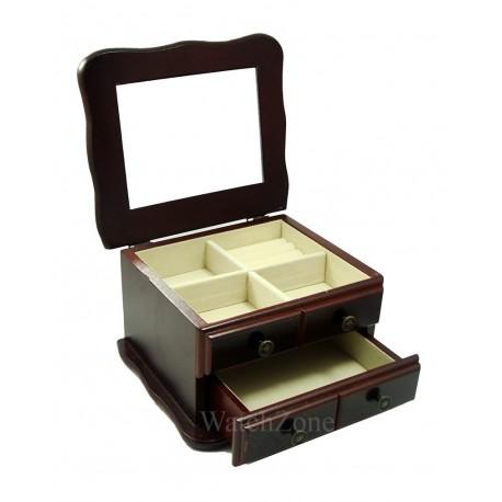 Caseta de bijuterii din lemn Francine WZ1576
