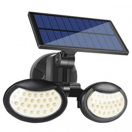 Lampa solara cu doua brate 56 LED-uri si senzor de miscare