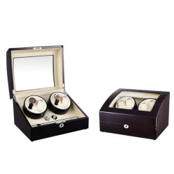 Dispozitiv pentru intors ceasuri automatice Watch Winder 4 + 6 Spatii Nuc