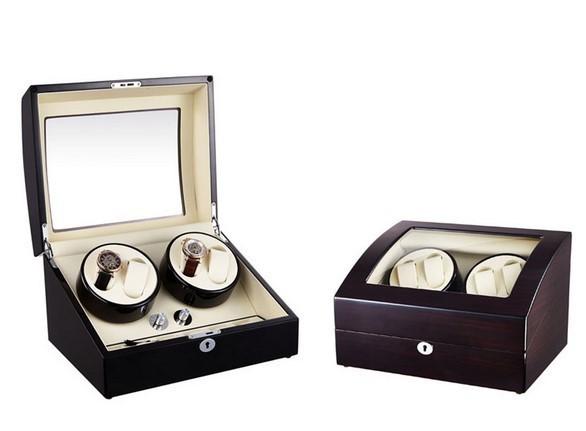 Dispozitiv pentru intors ceasuri automatice Watch Winder 4 + 6 Spatii Nuc imagine techstar.ro 2021